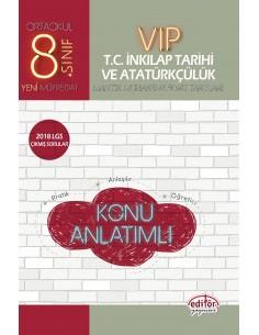Editör 8. Sınıf VIP TC. İnkılap Tarihi ve Atatürkçülük Konu Anlatımlı