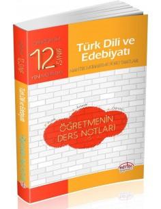 Editör 12. Sınıf Türk Dili ve Edebiyatı Öğretmenin Ders Notları