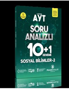 Puan Yayınları AYT Sosyal Bilimler 2 Soru Analizli 10+1 Deneme