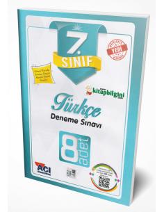 Açı Yayınları 7.Sınıf Türkçe 8'Li Branş Deneme Sınavları