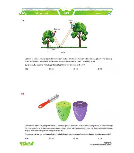 Sınav 8. Sınıf LGS Matematik 24 Ayar Fasikül Deneme