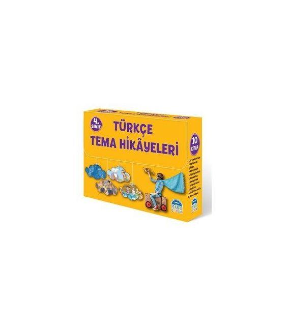 Türkçe Tema Hikayeleri Seti (4. Sınıf 10 Kitap)  - Martı Yayınları