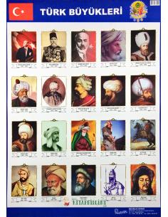 Türk Büyükleri Levhası (50 x 70 cm) - Kocaoluk Yayınları