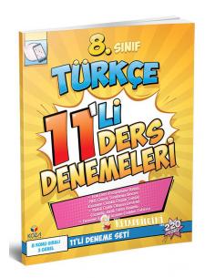 Koza Yayınları 8. Sınıf Türkçe 11'li Ders Denemeleri
