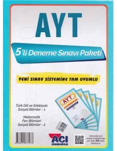 Açı Yayınları AYT 5'lı Paket Deneme Sınavı