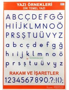 Dik Temel Yazı Levhası (50 x 70 cm) - Kocaoluk Yayınları