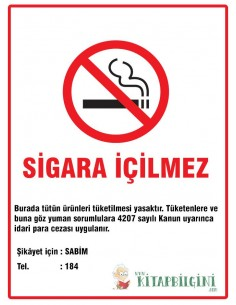 Sigara İçilmez Levhası (35 x 50 cm) - Kocaoluk Yayınları