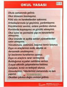 Okul Yasası Levhası (35 x 50 cm) - Kocaoluk Yayınları