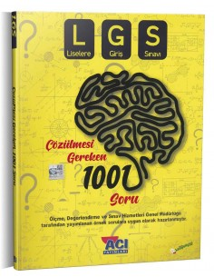 Açı Yayınları TYT Çözülmesi Gereken 1001 Soru