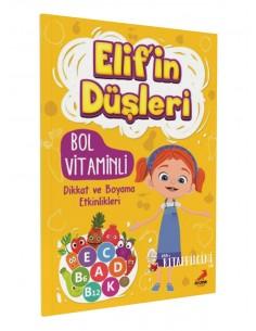 Erdem Yayınları Elif'in Düşleri Bol Vitaminli Dikkat ve Boyama Etkinlikleri
