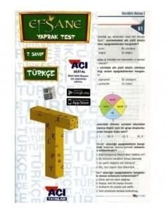 Açı Yayınları 7.Sınıf Türkçe Efsane Yaprak Test