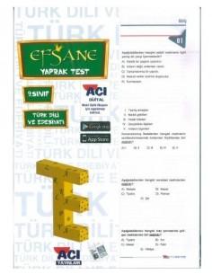 Açı Yayınları 9.Sınıf Türk Dili ve Edebiyatı Efsane Yaprak Test