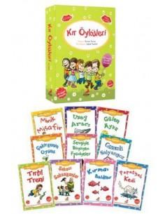 Erdem Yayınları İlkokul 1. ve 2. Sınıf Kır Öyküleri Hikaye Seti (10 Kitap)