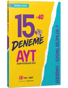 FenCebir Yayınları AYT Edebiyat/Sosyal Bilimler-1 15x40 Deneme Sınavı