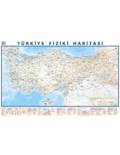 Türkiye Siyasi / Fiziki Çift Taraflı Harita (50x35) - Mepmedya Yayınları