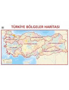 Türkiye Bölgeler Haritası (70x100) - Mepmedya Yayınları