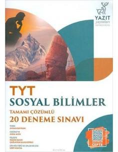 Yazıt Yayınları TYT Sosyal Bilimler Tamamı Çözümlü 20 Deneme Sınavı