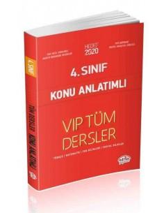 Editör 4. Sınıf VIP Tüm Dersler Konu Anlatımlı Kırmızı Kitap