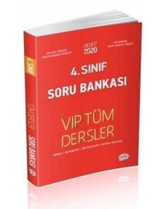 Editör 4. Sınıf VIP Tüm Dersler Soru Bankası Kırmızı Kitap
