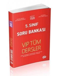 Editör 5. Sınıf VIP Tüm Dersler Soru Bankası Kırmızı Kitap
