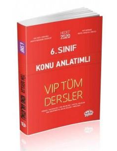 Editör 6. Sınıf VIP Tüm Dersler Konu Anlatımlı Kırmızı Kitap