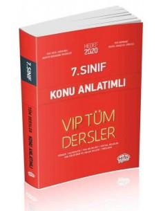 Editör 7. Sınıf VIP Tüm Dersler Konu Anlatımlı Kırmızı Kitap