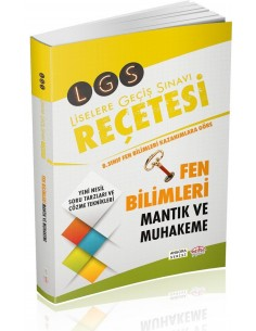 Editör Yayınları LGS Reçetesi Fen Bilimleri Mantık Muhakeme Angora Serisi