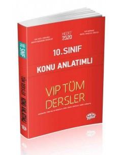 Editör 10. Sınıf VIP Tüm Dersler Konu Anlatımlı Kırmızı Kitap