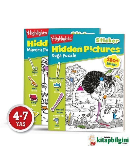 Dikkat Atölyesi Highlights Sticker Hidden Pictures 2'li Set