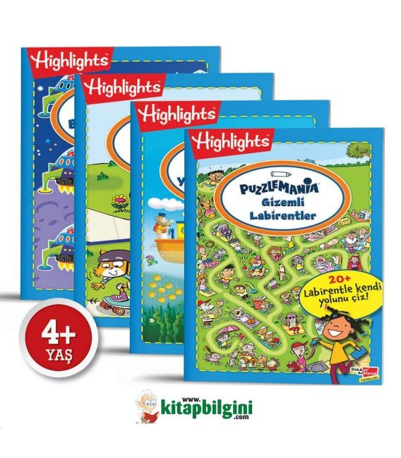 Dikkat Atölyesi Highlights Puzzlemania On The Go Serisi 4'lü Set