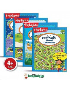 Dikkat Atölyesi Highlights Puzzlemania On The Go Serisi 4'lü Set