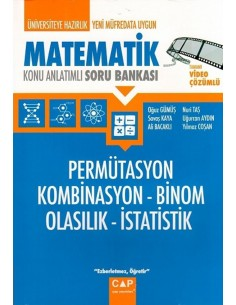 Çap Matematik Permütasyon Kombinasyon Binom Olasılık İstatistik