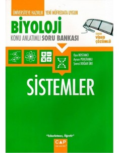Çap Yayınları Biyoloji Sistemler Konu Anlatımlı Soru Bankası