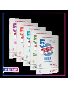 Sınav Yayınları 5. Sınıf Tüm Dersler Konu Anlatımlı Akordiyon Kampanyalı Set (5 Kitap)