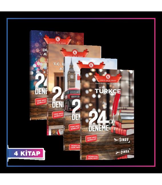 Sınav Yayınları LGS Tüm Dersler 24 Deneme Kampanyalı Set (6 Kitap)