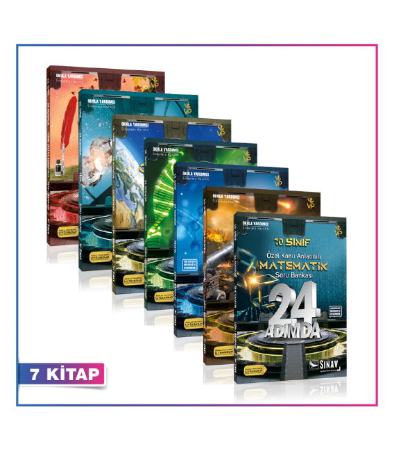 Sınav Yayınları 10. Sınıf 24 Adımda Tüm Dersler Soru Bankası Kampanyalı Set (7 Kitap)