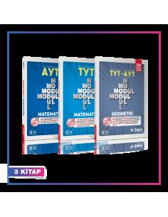 Sınav Yayınları TYT AYT Matematik Geometri Modül Modül Kampanyalı Set (3 Kitap)