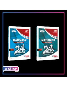 Sınav Yayınları TYT AYT Matematik 24 Adımda Soru Bankası Kampanyalı Set (2 Kitap)