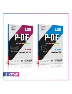 Puan Yayınları 8. Sınıf LGS Sayısal PDİF Konu Anlatım Föyleri Kampanyalı Set (2 Kitap)