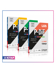 Puan Yayınları 8. Sınıf LGS Sözel PDİF Konu Anlatım Föyleri Kampanyalı Set (3 Kitap)