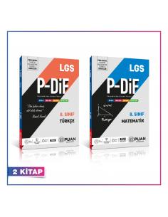Puan Yayınları 8. Sınıf LGS Türkçe Matematik PDİF Konu Anlatım Föyleri Kampanyalı Set (2 Kitap)
