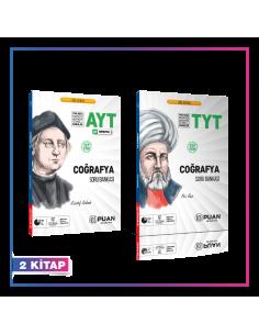 Puan Yayınları TYT AYT Coğrafya Soru Bankası Kampanyalı Set (2 Kitap)