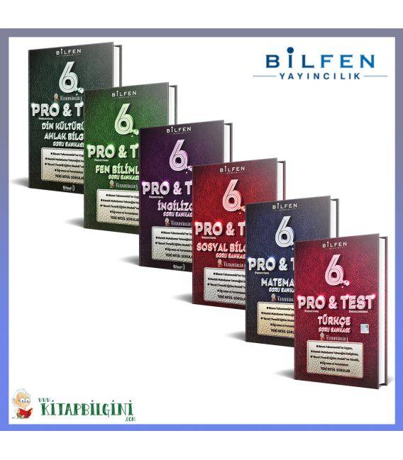 Bilfen 6. Sınıf ProTest Tüm Dersler Soru Bankası Kampanyalı Set (6 Kitap)