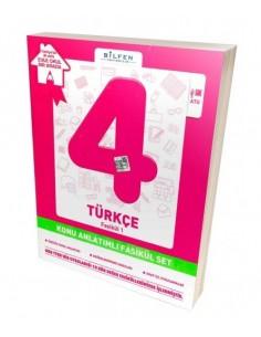 Bilfen Yayınları İlkokul 4.Sınıf Türkçe Konu Anlatımlı Yardımcı Fasikül Set – Ödev Fasikülleri