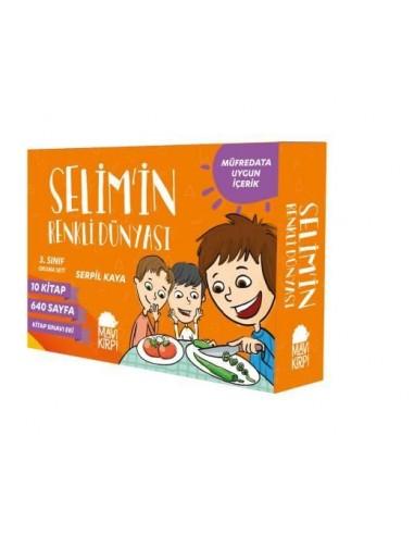 Selim'in Renkli Dünyası (10 Kitap)-Mavi Kirpi