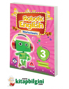 DAMLA ROBOTIC ENGLISH WORKSHEETS BOOK - 3.GRADE