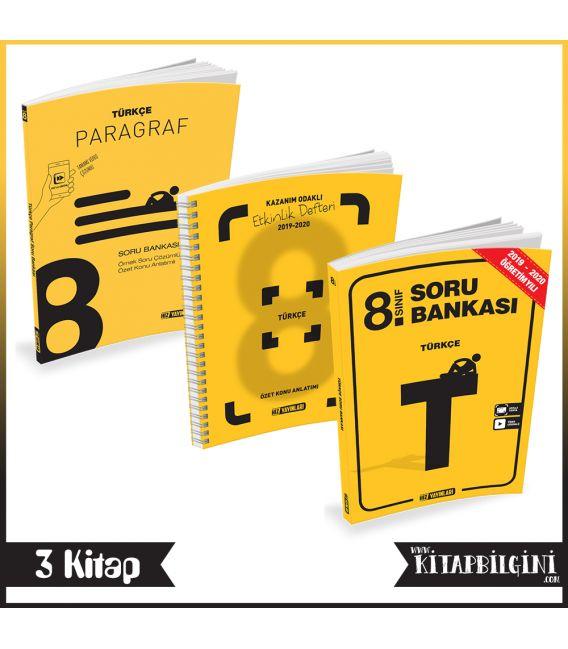 Hız Yayınları 8. Sınıf Türkçe - Paragraf Kampanyalı Set (3 Kitap)