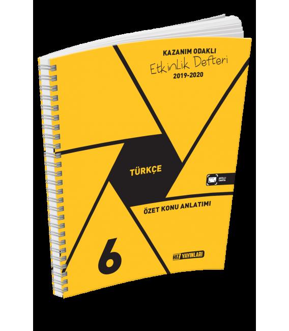 Hız Yayınları 6. Sınıf Türkçe Kazanım Odaklı Etkinlik Defteri