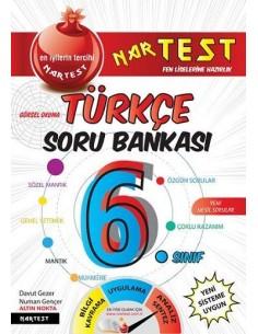 Nartest 6. Sınıf Süper Zeka Fen Liselerine Hazırlık Türkçe Soru Bankası