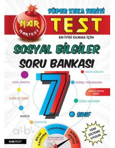 Nartest 7. Sınıf Süper Zeka Sosyal Bilgiler Soru Bankası